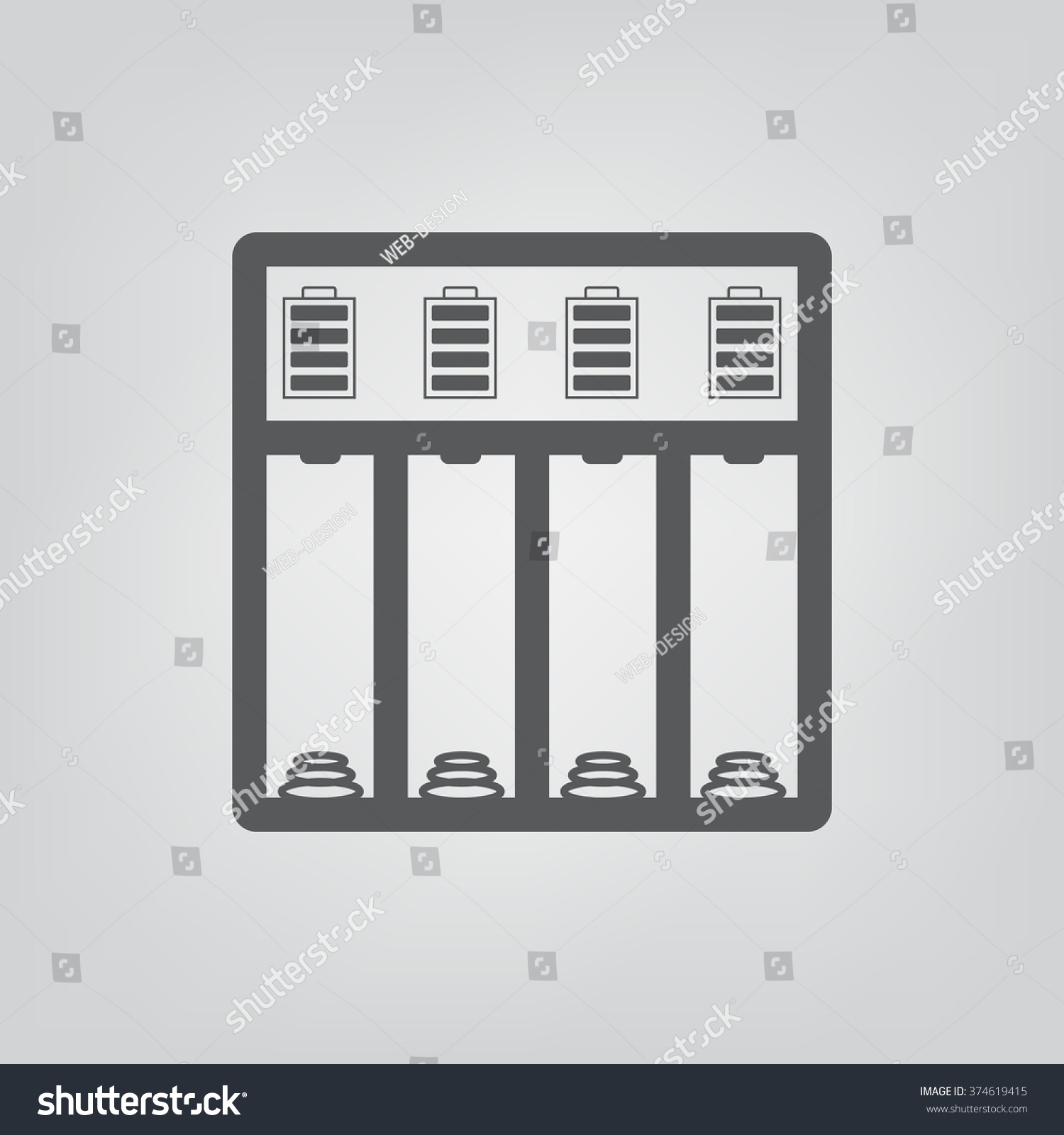 Battery Charger Icon JPG Stock Vector (Royalty Free