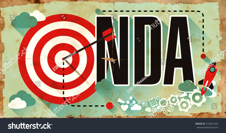 Nda Non Disclosure Agreement Drawn On Stock Illustration 374641942