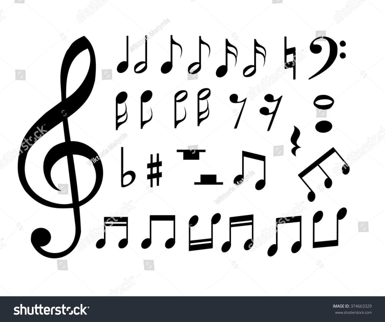 set music notes vector stock vector 374663329 shutterstock