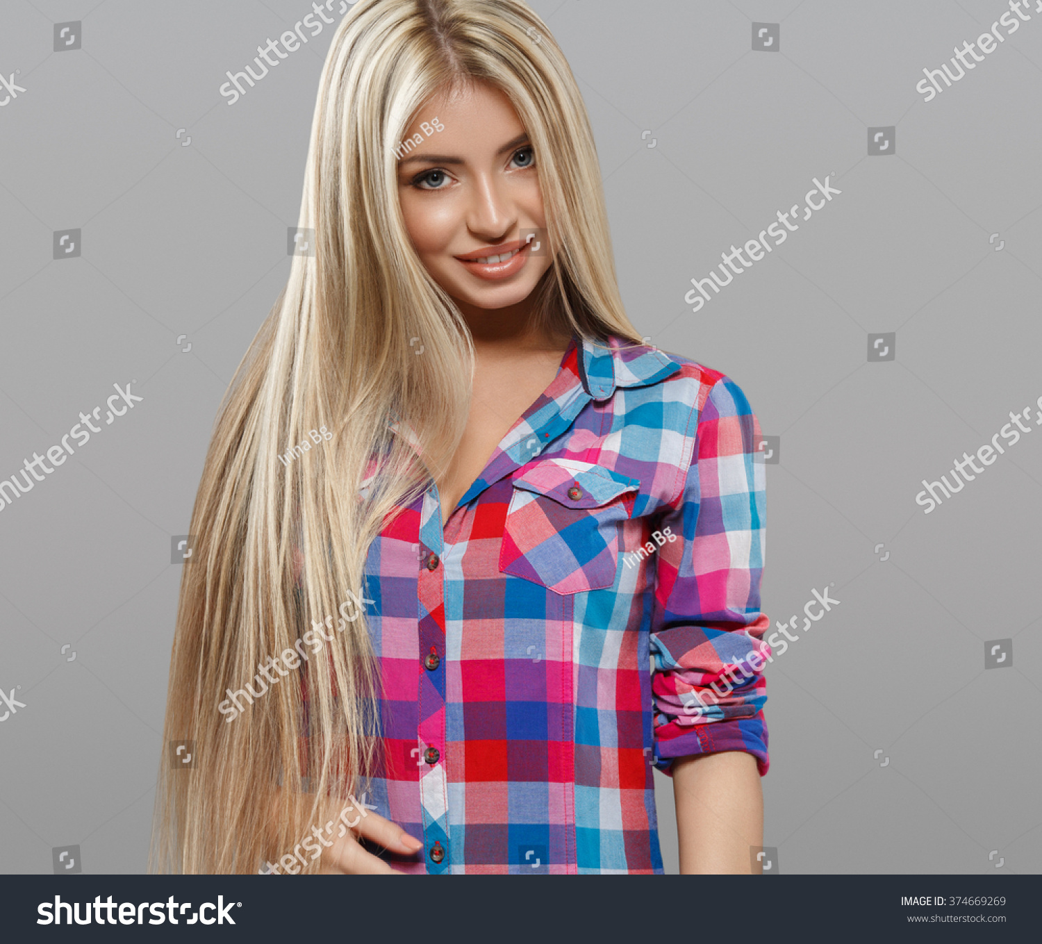 Beautiful Young Woman Portrait Smiling Posing Attractive