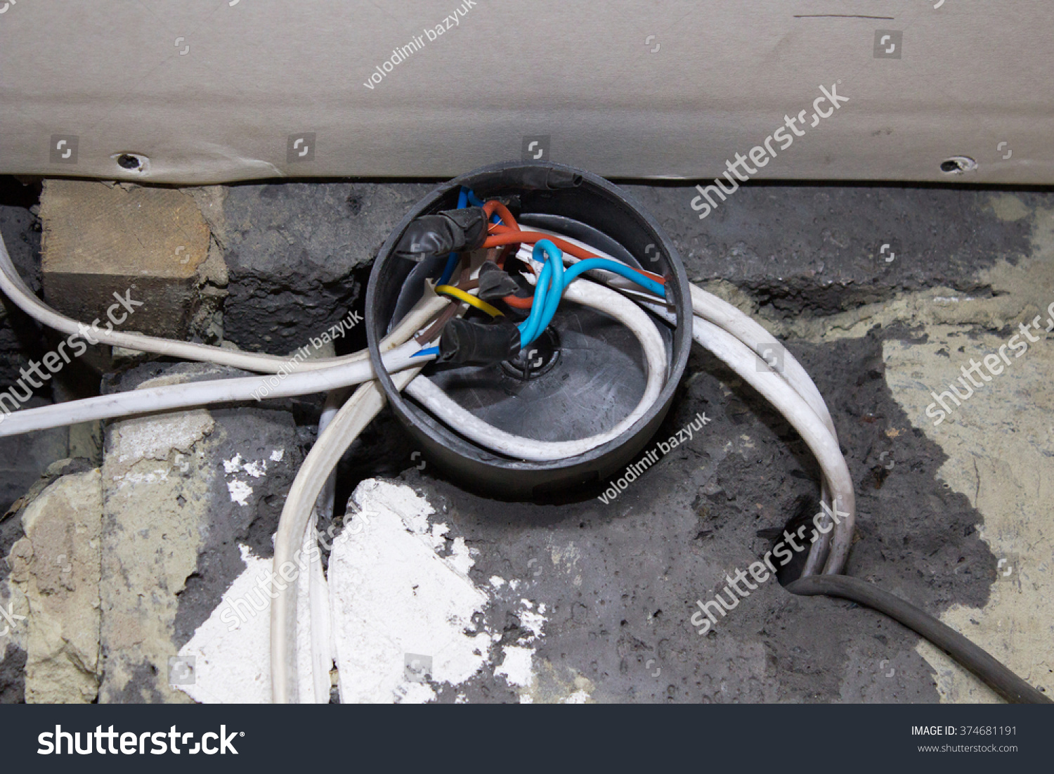 Electrical Junction Box Stock Photo Edit Now 374681191 Shutterstock Stove Wiring