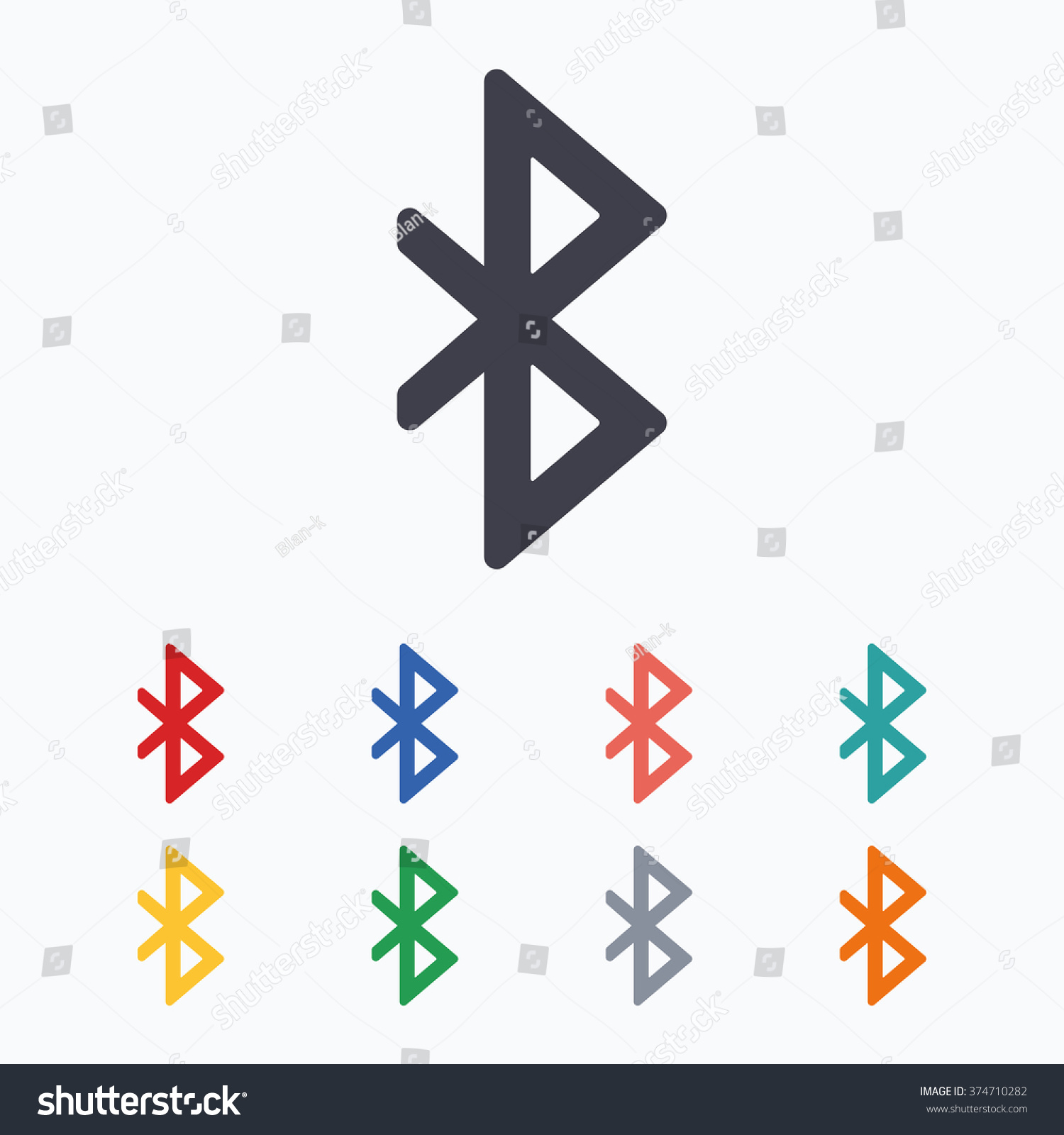 Bluetooth sign icon mobile network symbol stock vector 374710282 mobile network symbol data transfer colored flat icons on white biocorpaavc