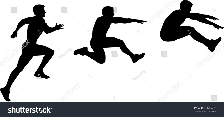 Long Jump Sequence Stock Vector 374750074 : Shutterstock