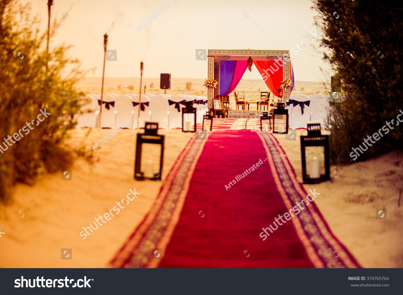 Famous Destination Wedding Place Dubai Desert Stock Photo 374765764