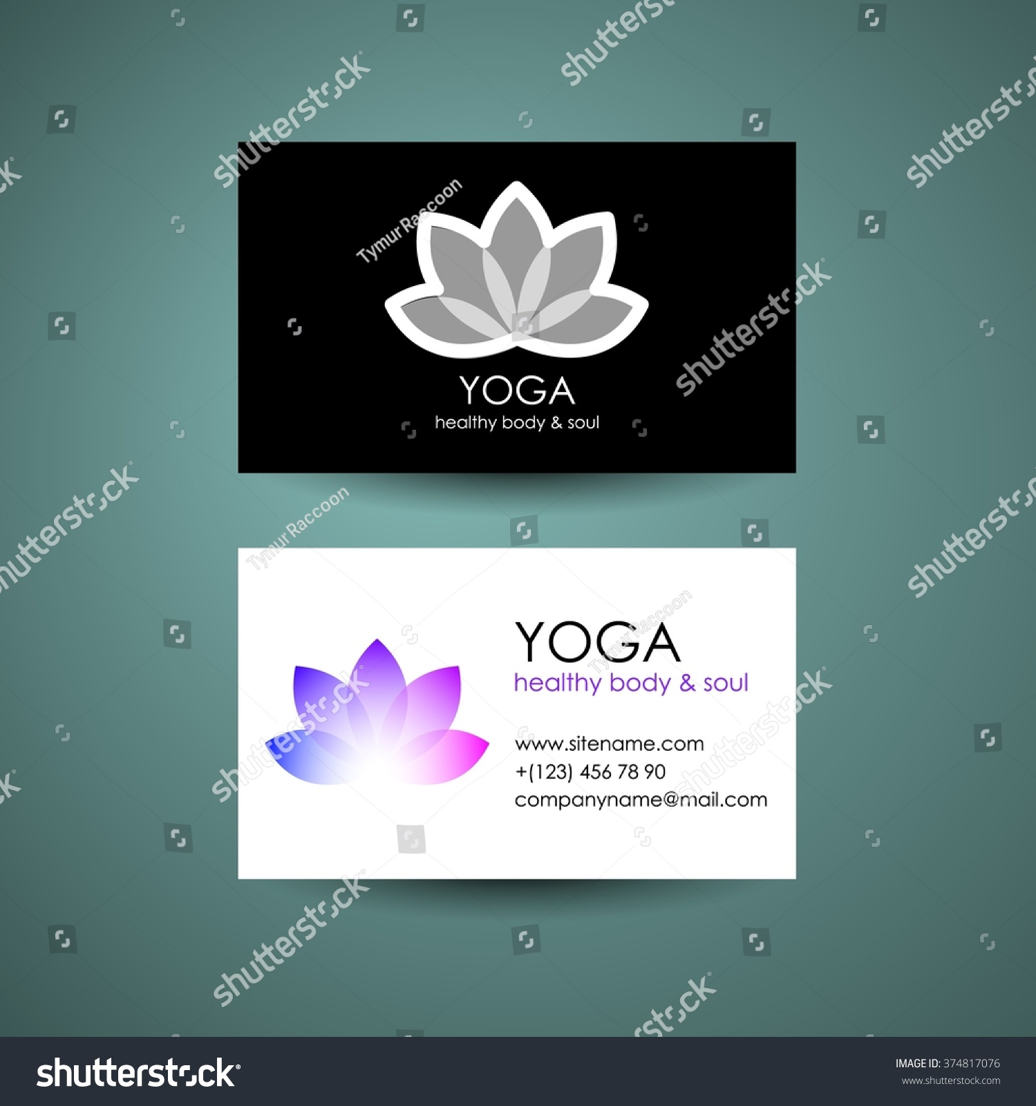 yoga logo template yogas symbol lotus stock vector