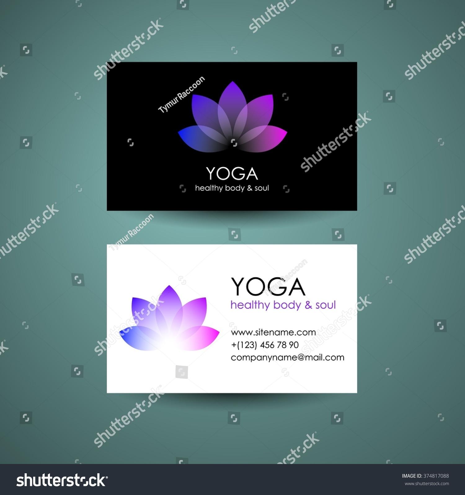 Yoga Logo Template Yogas Symbol Lotus Stock Vector 374817088 ...