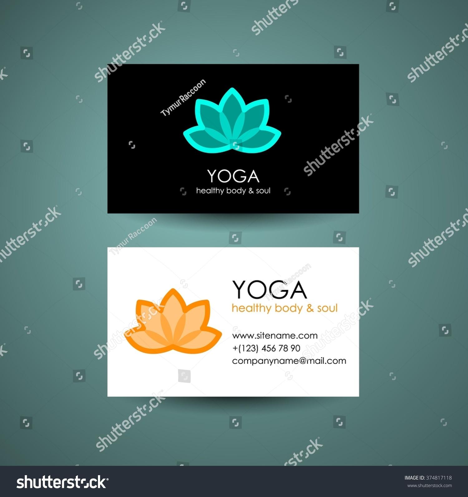 Yoga Logo Template Yogas Symbol Lotus Stock Vector 374817118 ...