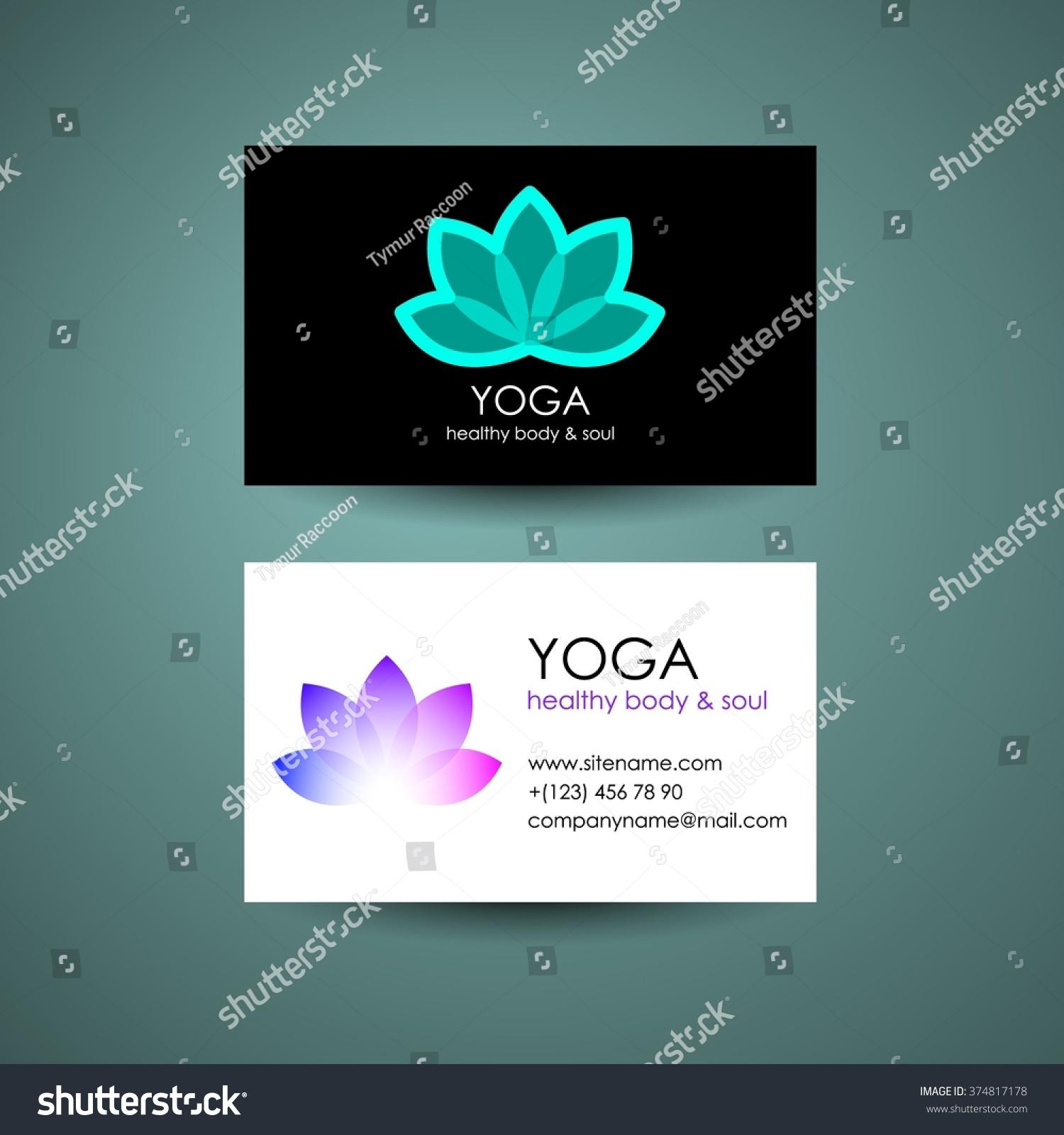 Yoga Logo Template Yogas Symbol Lotus Stock Vector 374817178 ...