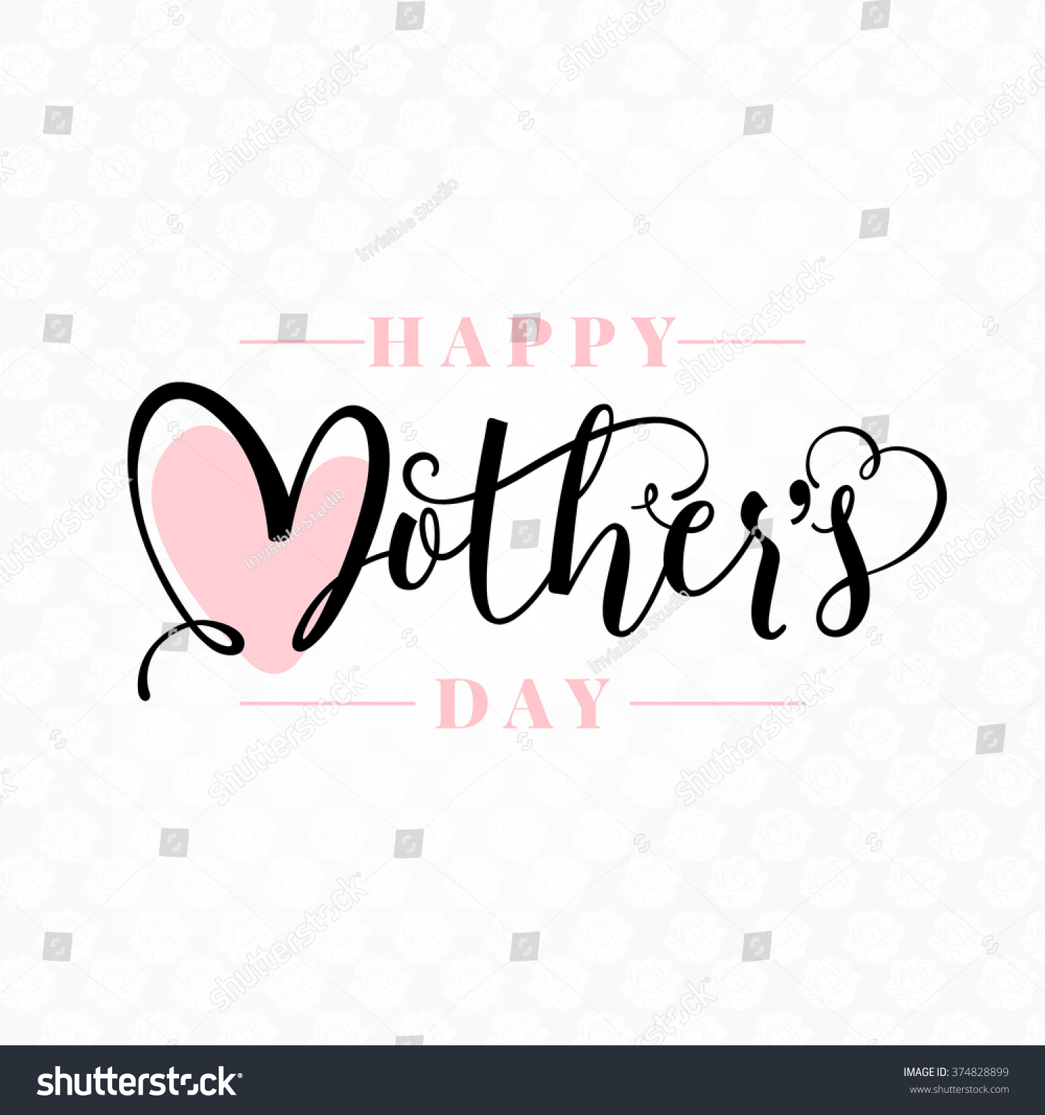 Happy mothers day calligraphy background stock vector