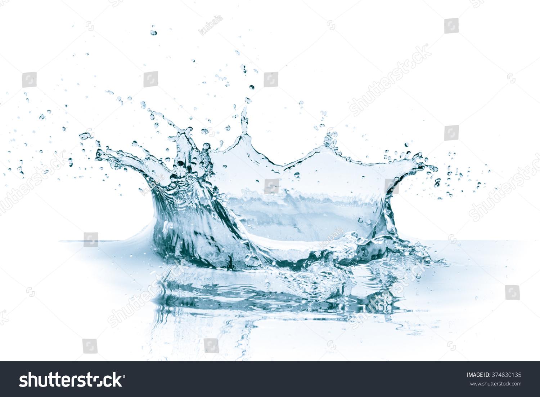 Water splash white background