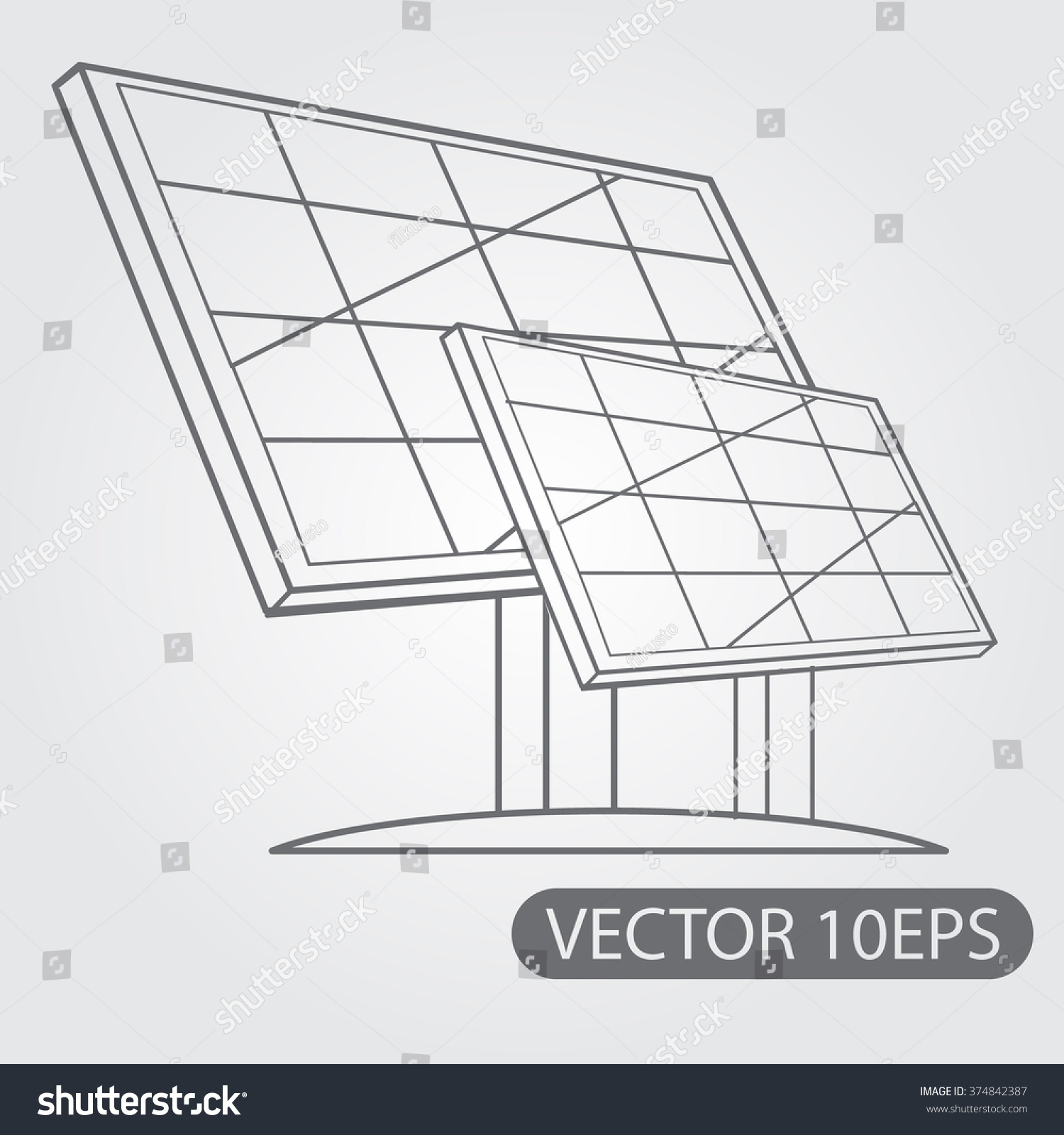 It's just a graphic of Massif Easy Solar Panel Drawing