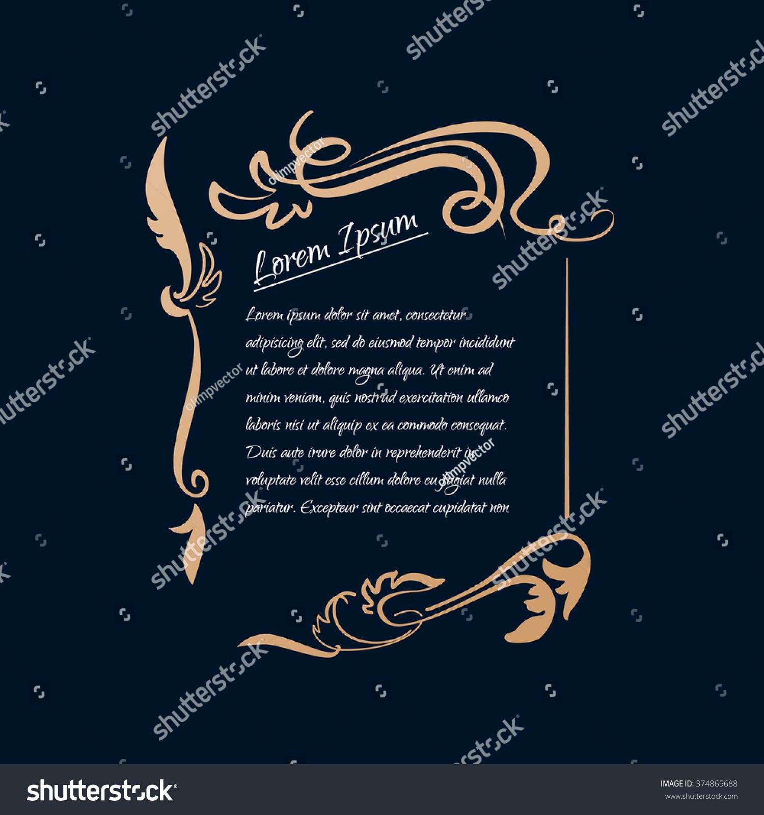 Border Designs Greeting Cards Template Design Stock Vector Royalty