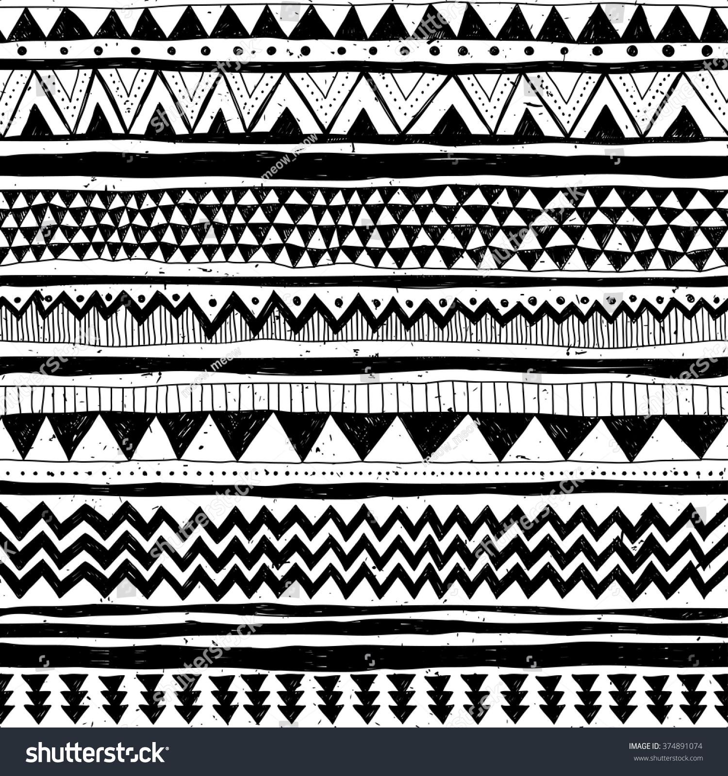 black white tribal navajo vector seamless stock vector