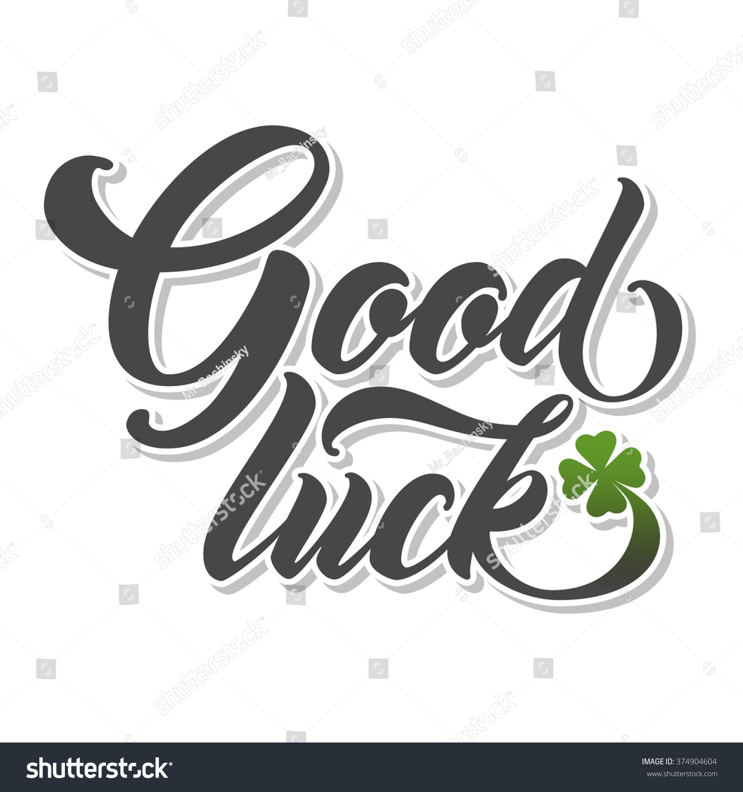 Good luck hand lettering handmade vector calligraphy Images of calligraphy
