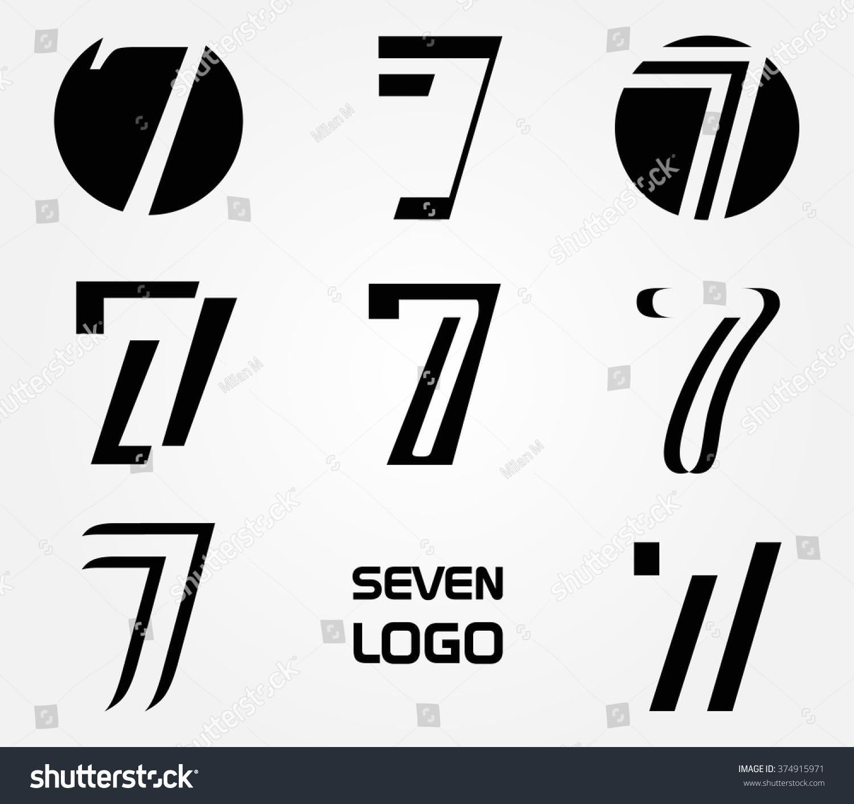 Number 7 logo vector logo design 374915971 shutterstock for Blueprint number