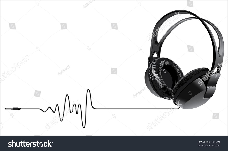 Music Headphones Stock Vector Illustration 37491796 ...