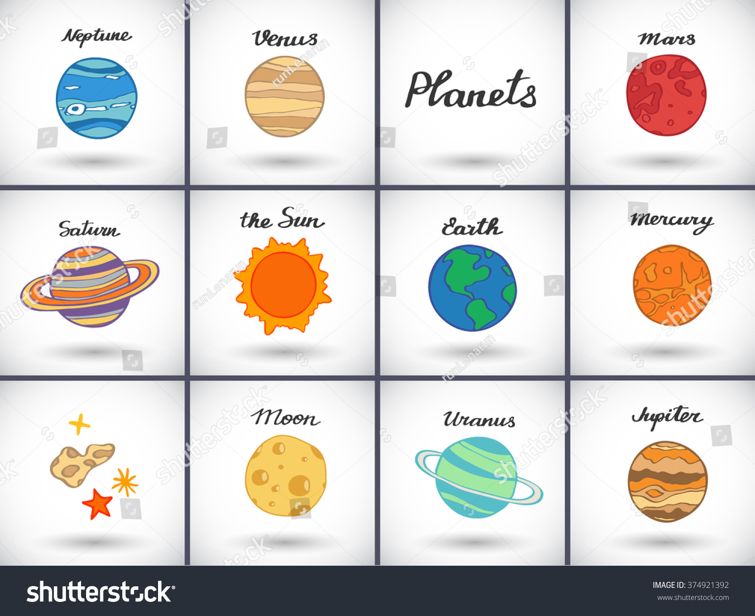 drawing of planets in solar system - photo #18