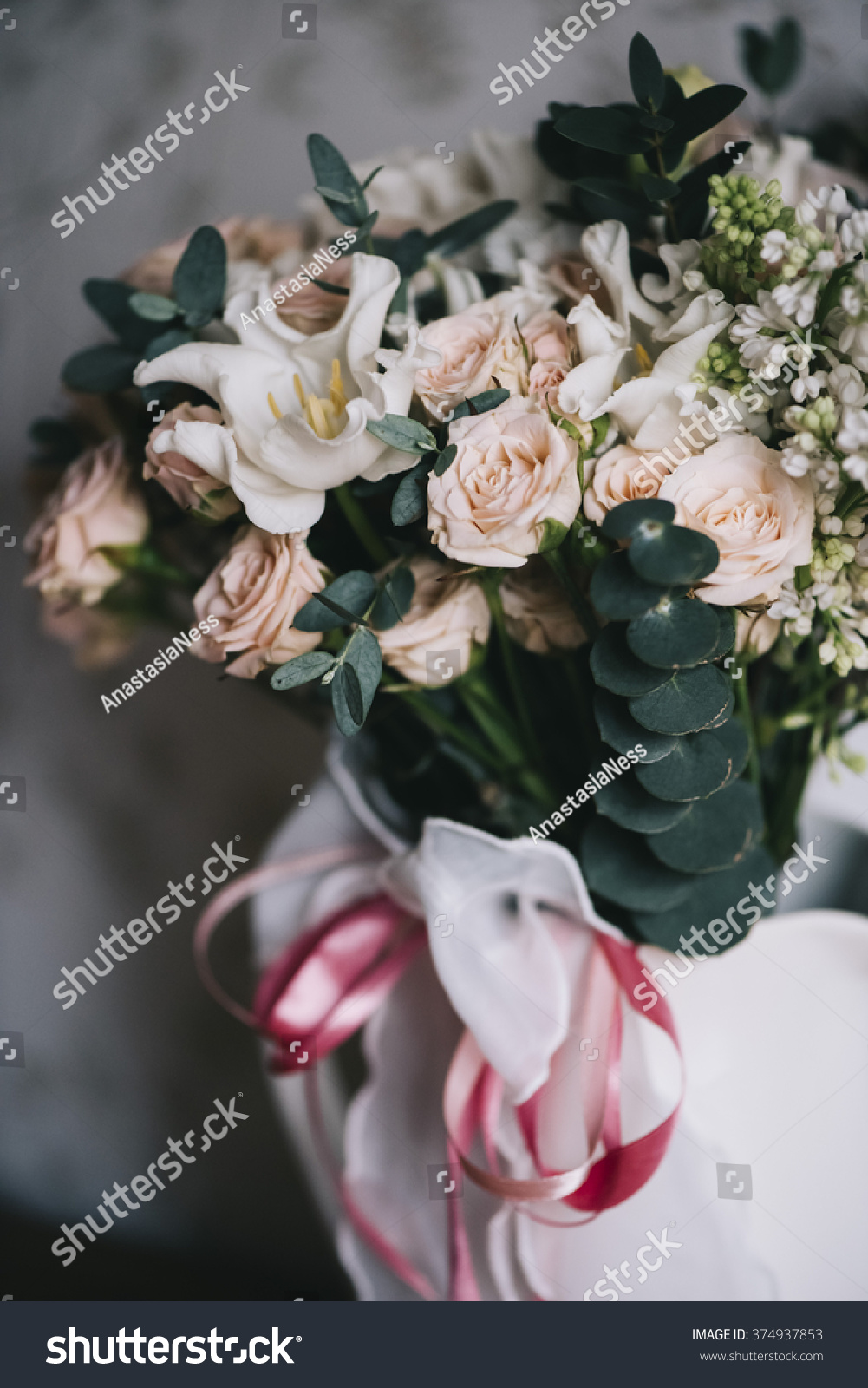 Beautiful Fancy Flower Bouquet Stock Photo Edit Now 374937853