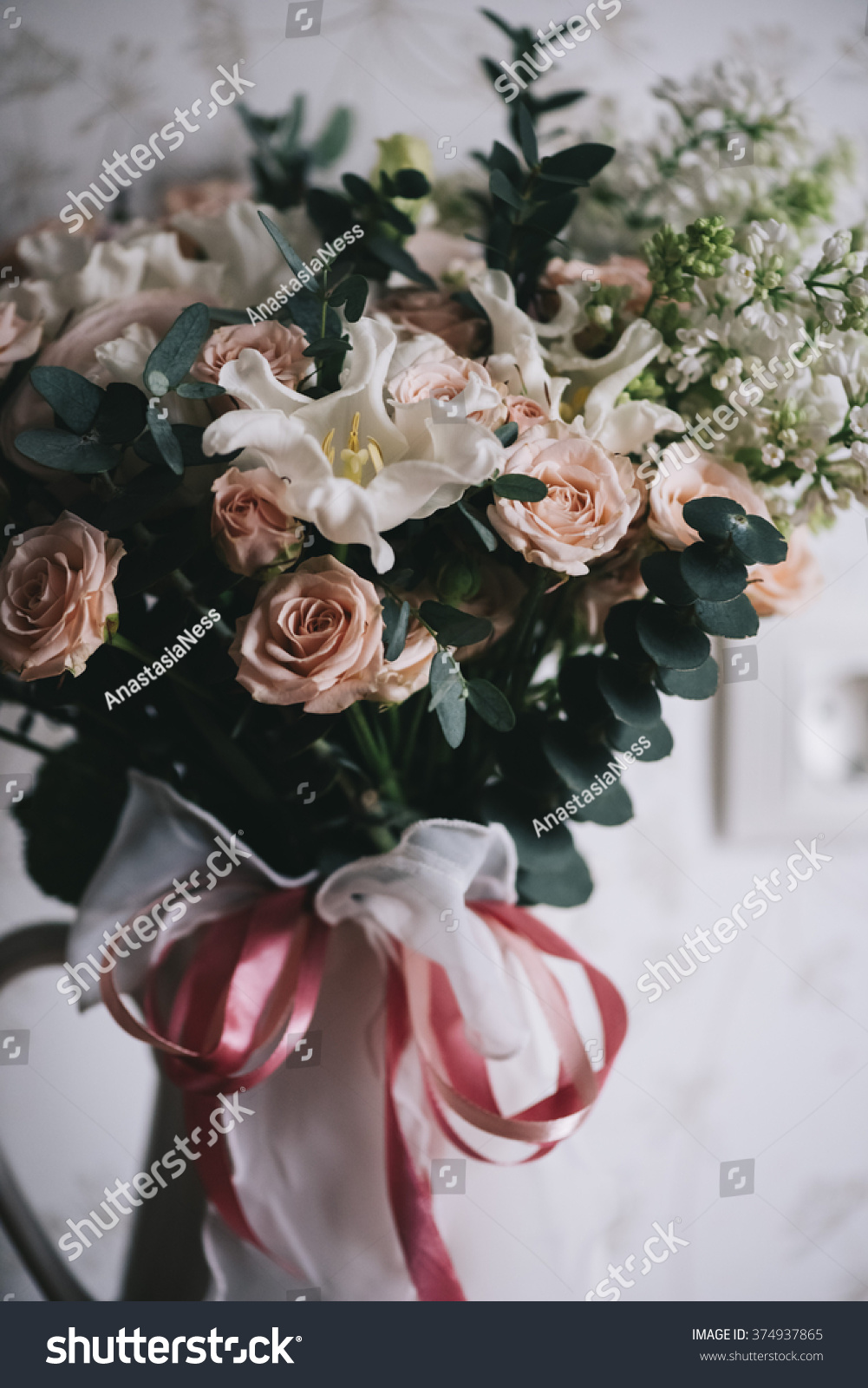 Beautiful Fancy Flower Bouquet Stock Photo Royalty Free 374937865