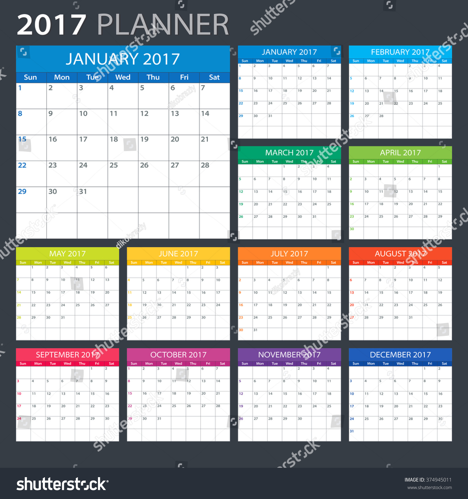 Calendar Planner Vector : Planner illustration vector template