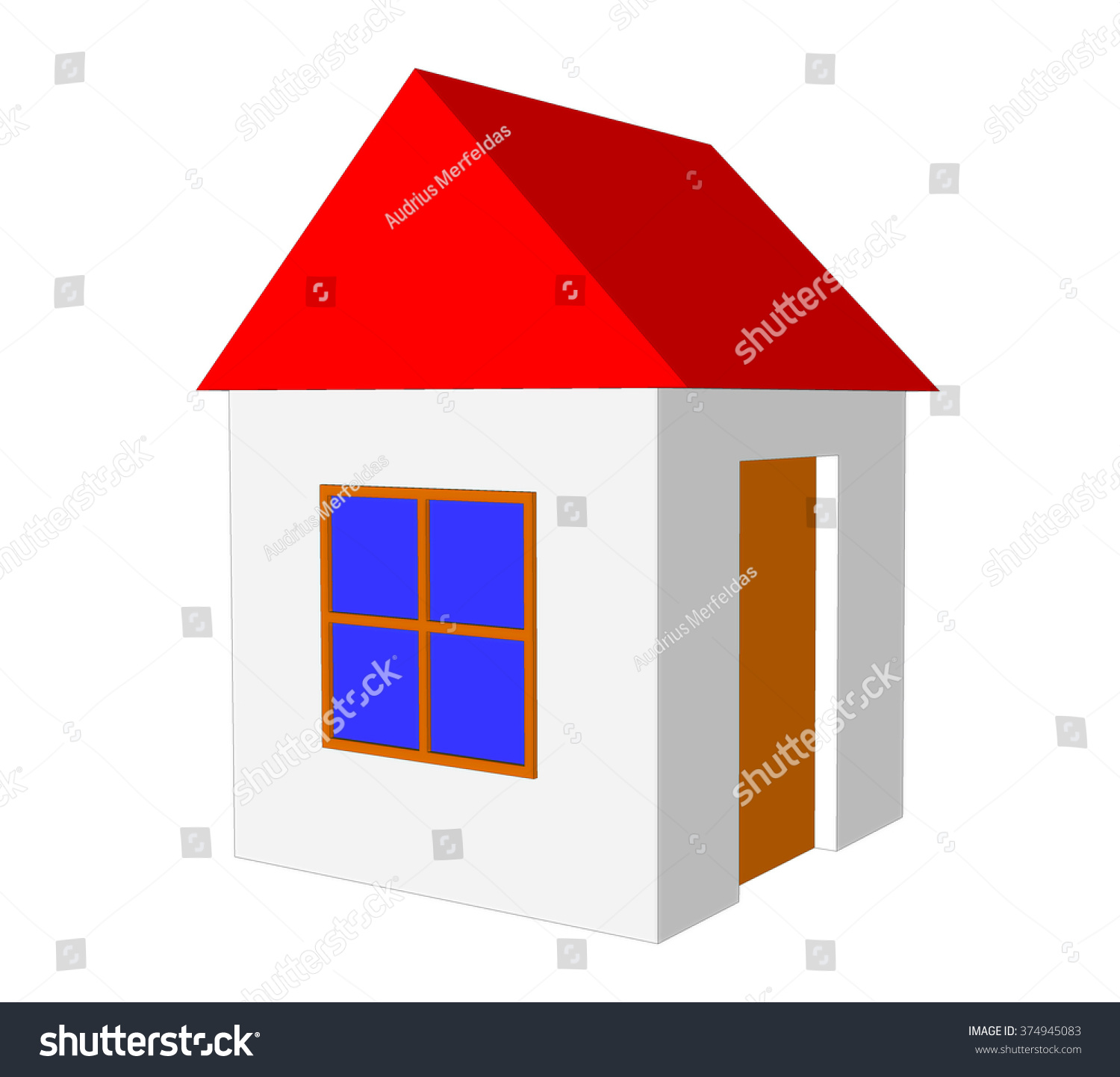 Simple house model images