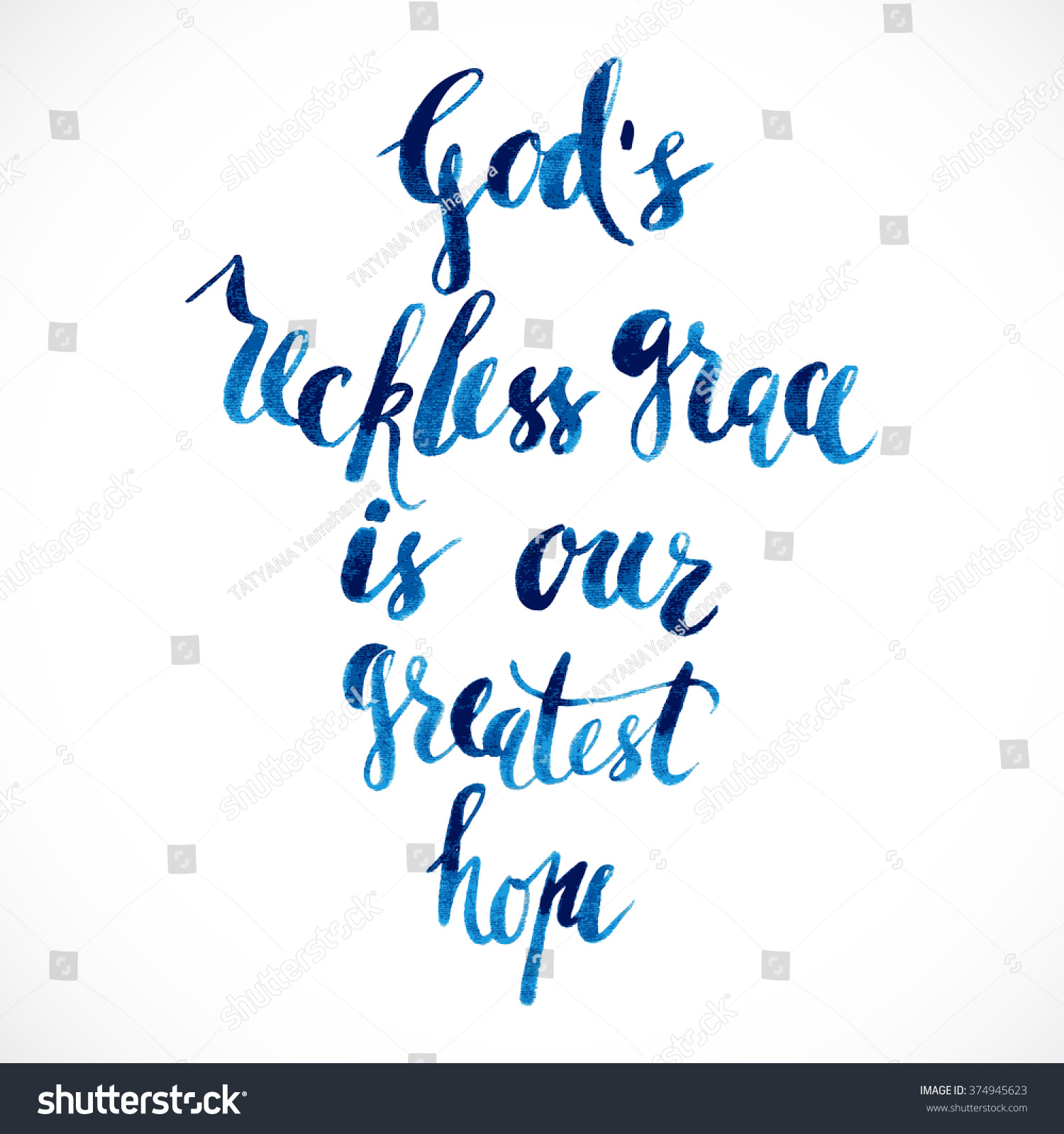 Quote About God Vector Quote God Positive Poster Inspirational Stock Vector