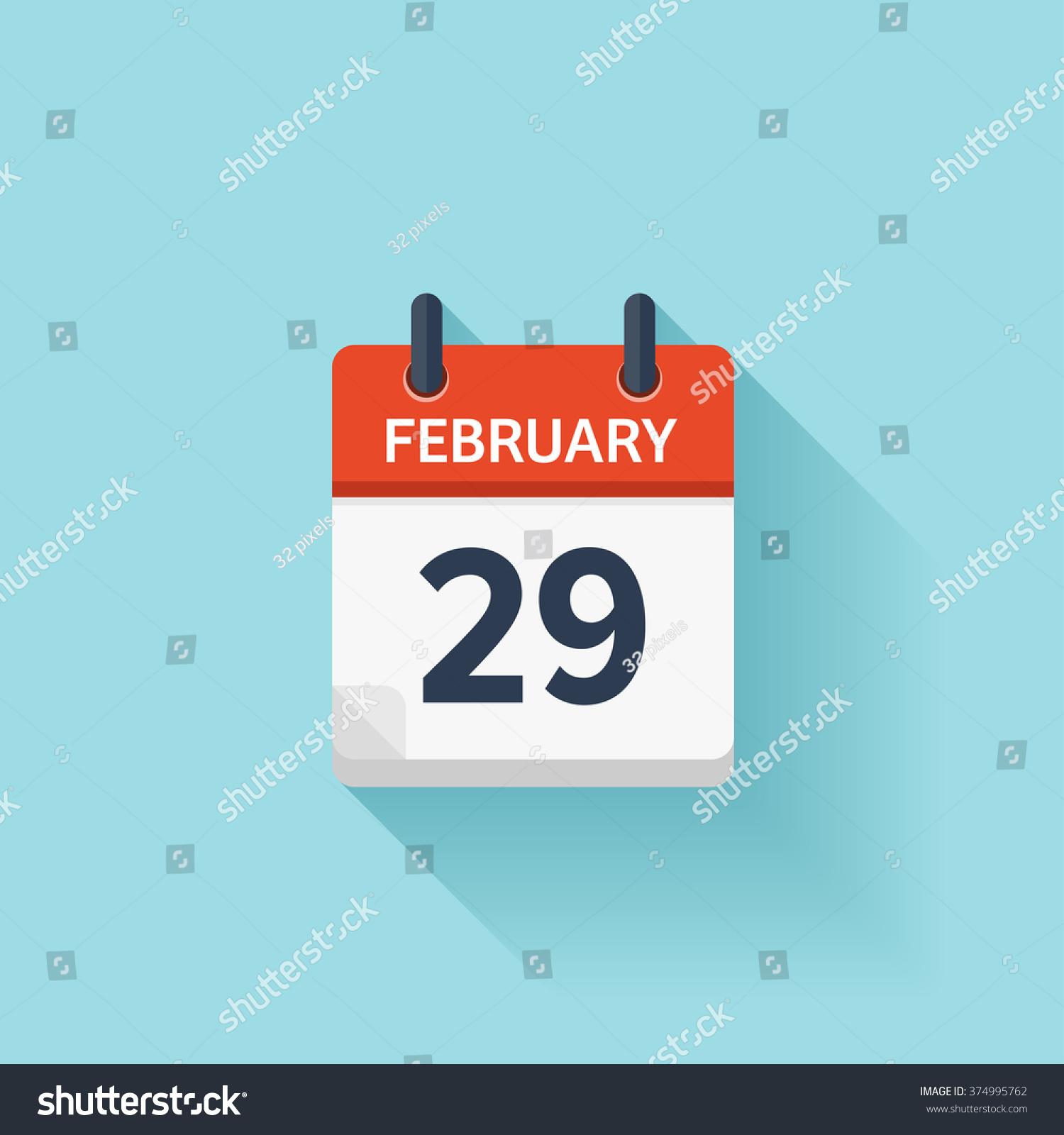 February Calendar Illustration : February calendar iconvector illustrationflat
