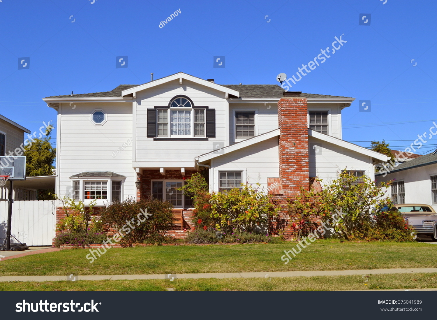 Beautiful homes estates los angeles ca stock photo for Beautiful in los angeles