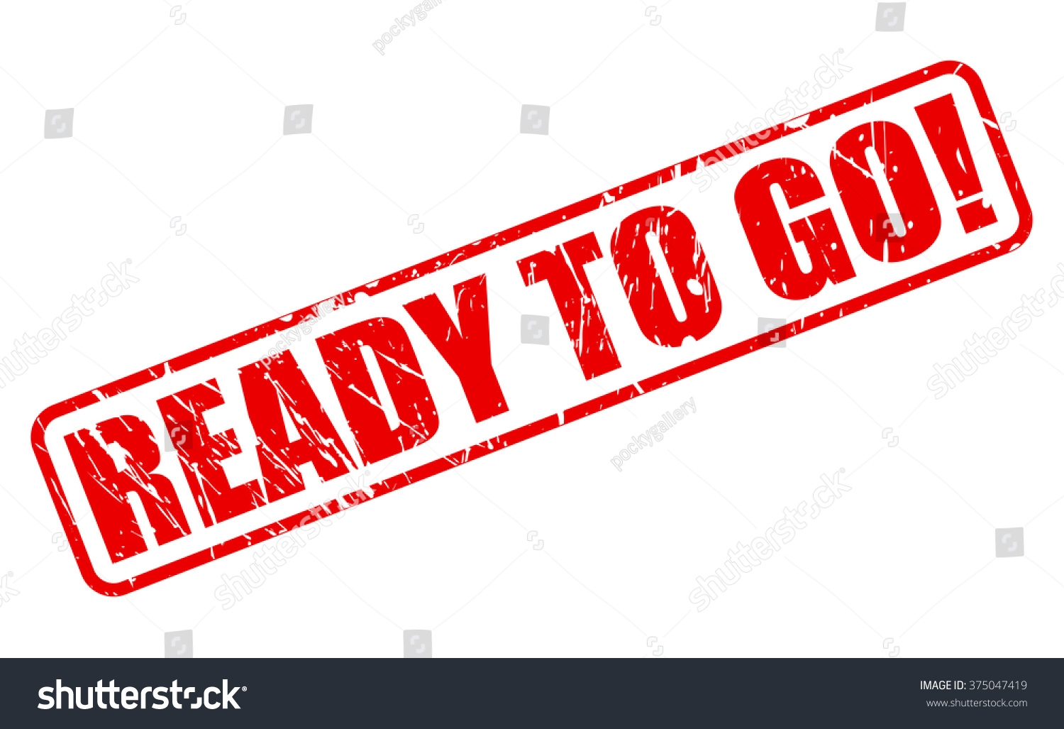 Ready to go red stamp text on white stock vector for Ready to go images