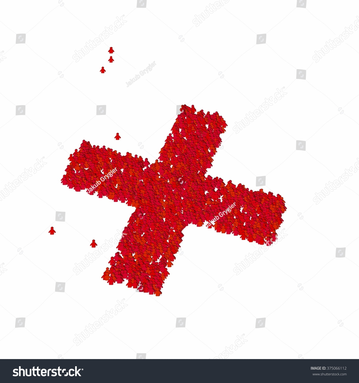 Cross Symbol Glyph Out Tiny Textures Stock Illustration Royalty