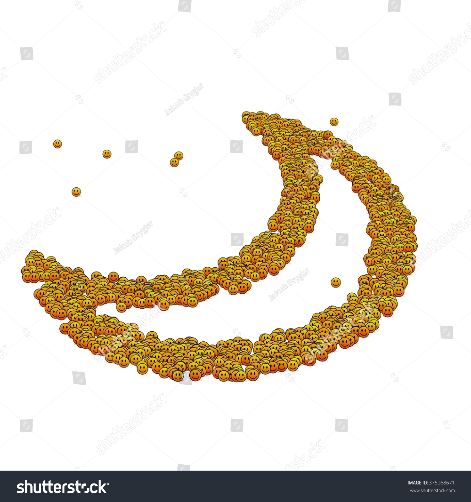 Moon crescent symbol glyph out tiny stock illustration 375068671 moon crescent symbol glyph out of tiny textures particles representing human and his emotions buycottarizona Image collections