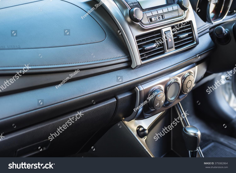detail of new modern car interior focus on door air con adjust stock photo 375082864 shutterstock. Black Bedroom Furniture Sets. Home Design Ideas