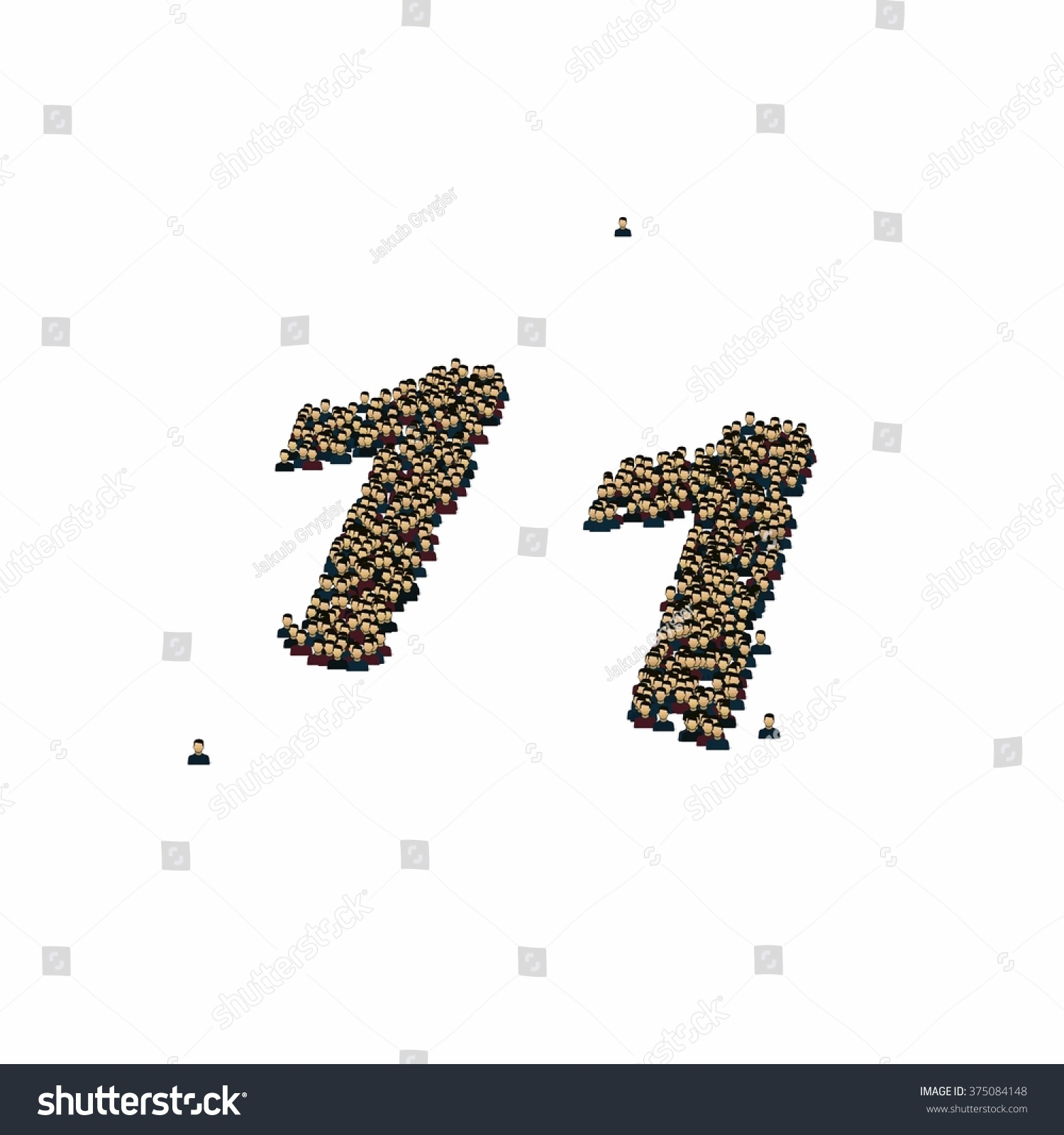 Number Eleven Symbol Glyph Out Tiny Stock Illustration 375084148