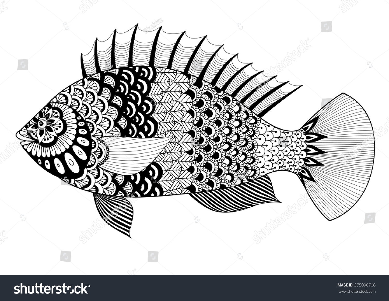 sea predator lionfish coloring pages
