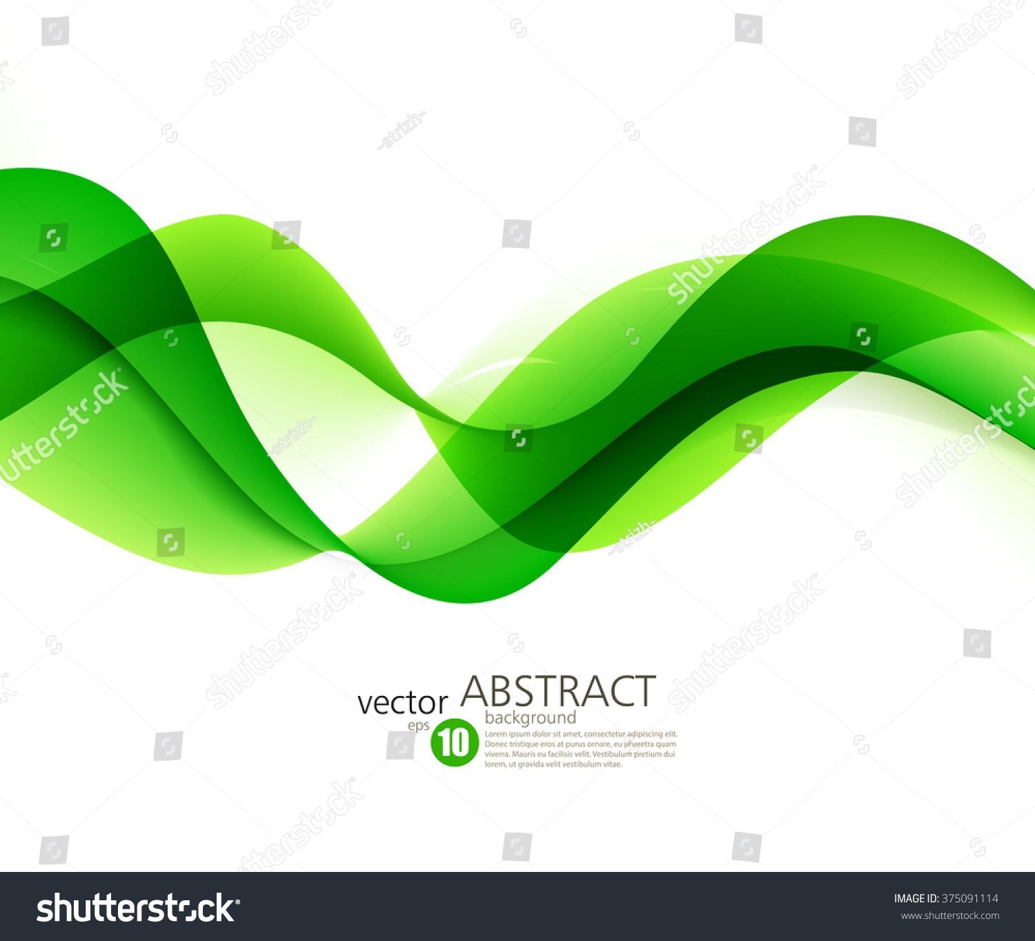 Abstract Color Wave Background Abstract Green Stock Vector Royalty