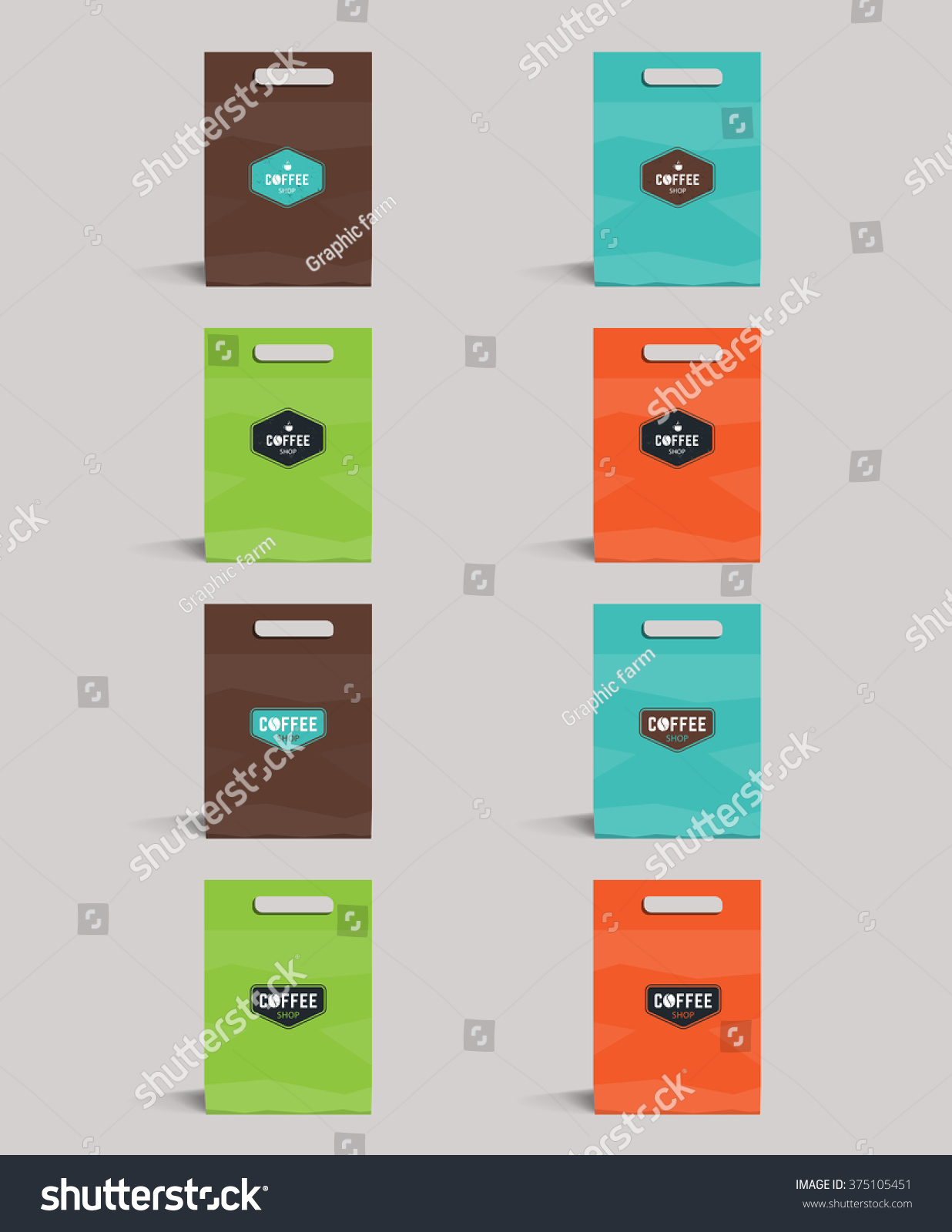 Set Color Package Design Mock Templatecafe Stock Vector (2018 ...