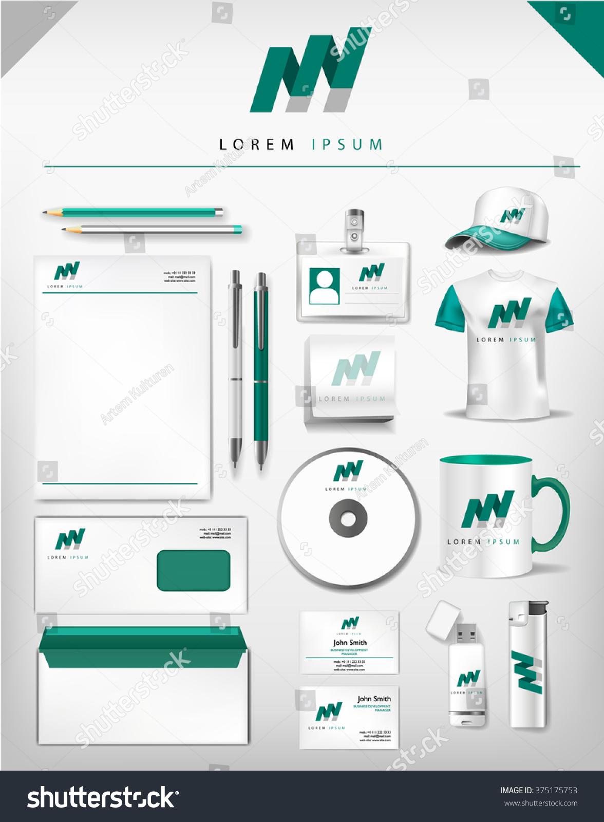 Abstract Gray Green Logo Corporate Identity Stock Vector 375175753 ...