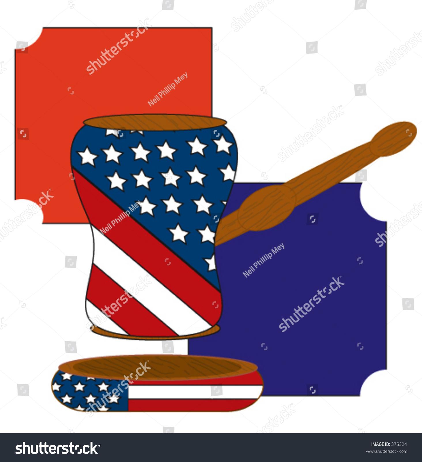 Gavel Court Law American Flag On Stock Vector 375324 - Shutterstock