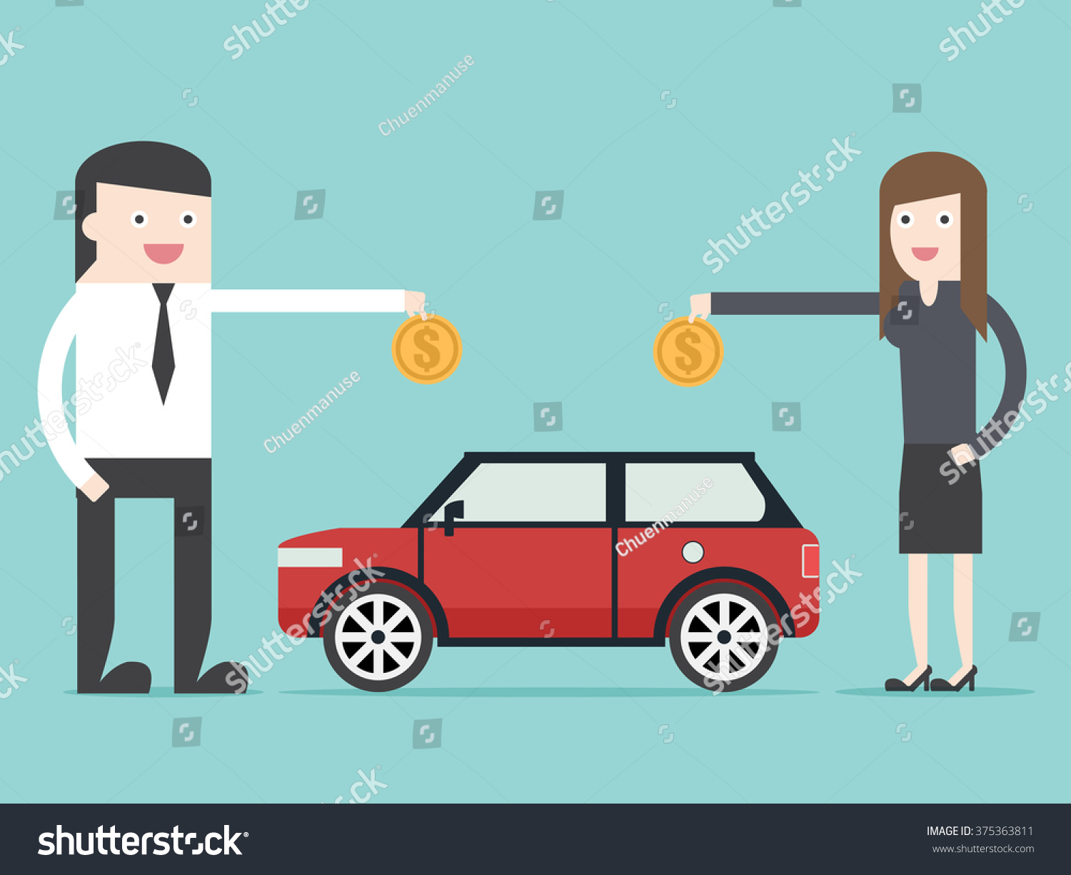 Save Money Car Asset Property By Stock Vector 375363811 - Shutterstock