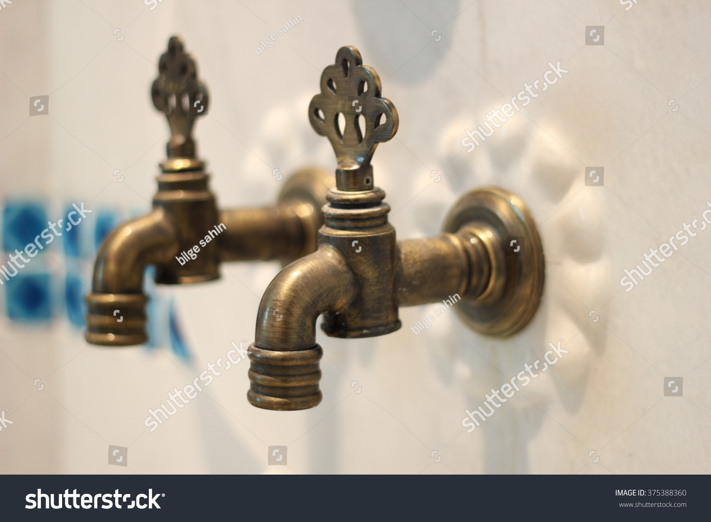 Hamam Kurna Retro Bath Faucet Stock Photo (Safe to Use) 375388360 ...