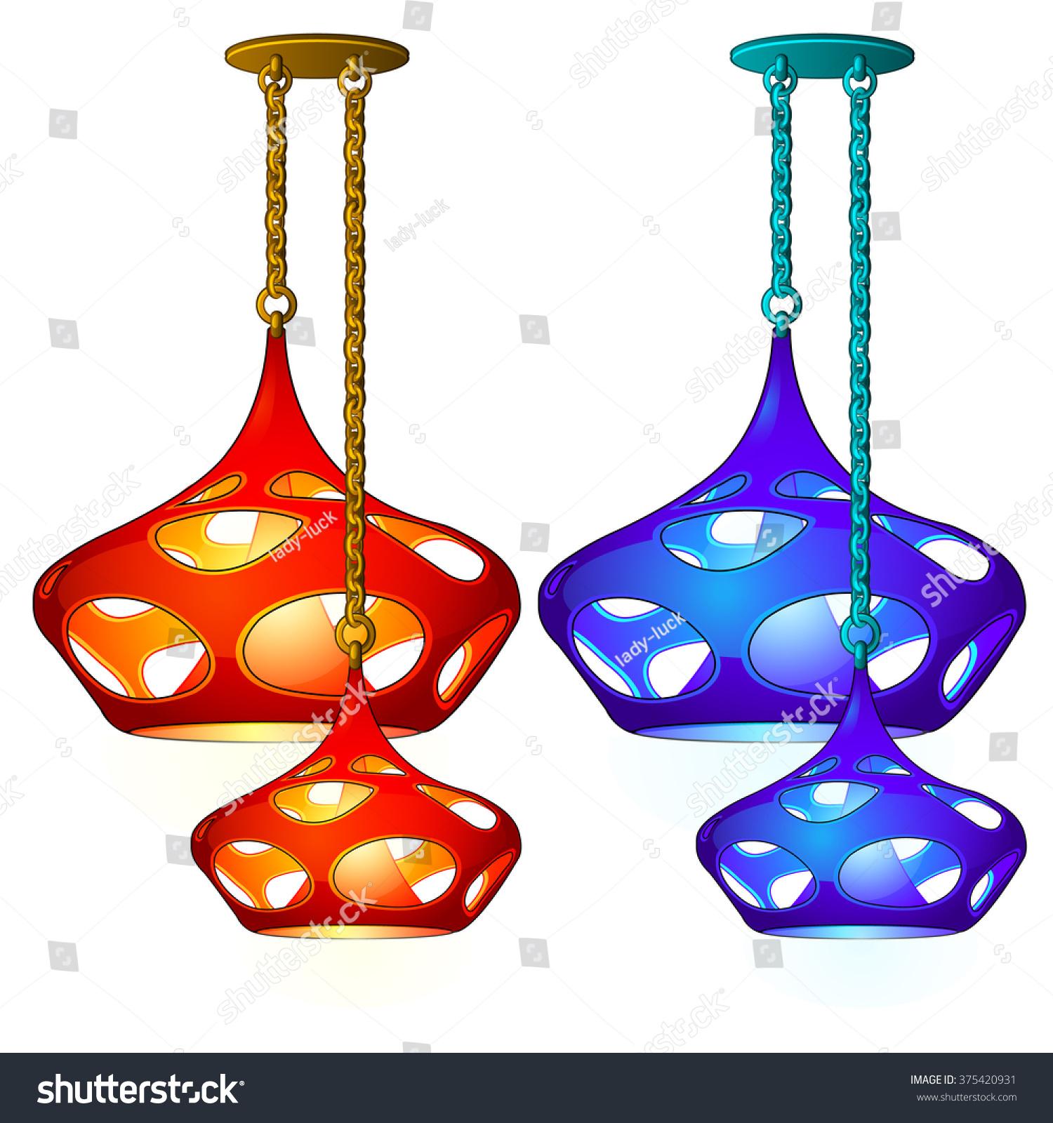 Beautiful chandelier kitchen vector stock vector 375420931 beautiful chandelier for the kitchen vector arubaitofo Gallery