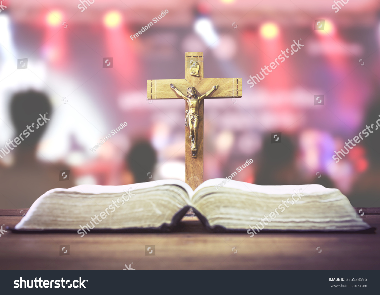 Christian Worship Wooden Cross Crucifix Jesus Stock Photo (Edit Now ...