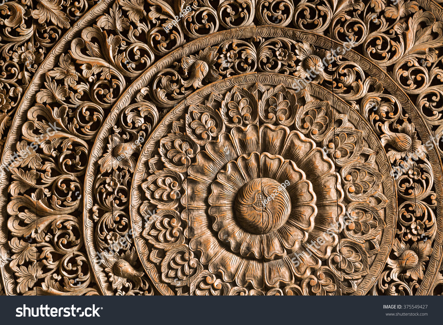 Wood carving pattern for background. ez canvas