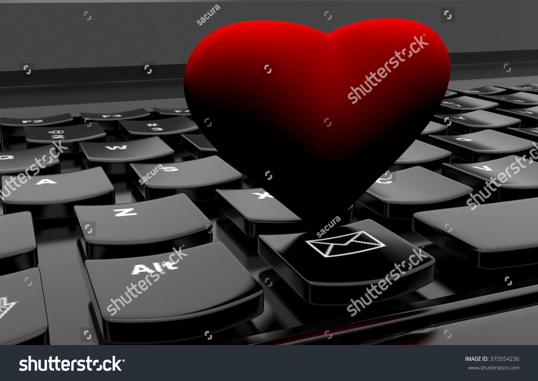 Heart on computer keyboard stock illustration 375554236 shutterstock heart on computer keyboard buycottarizona Choice Image