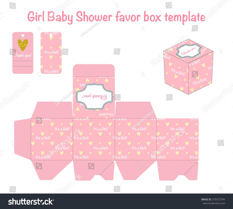 Pink Golden Favor Box Suites Girl Stock Vector 375572794 - Shutterstock