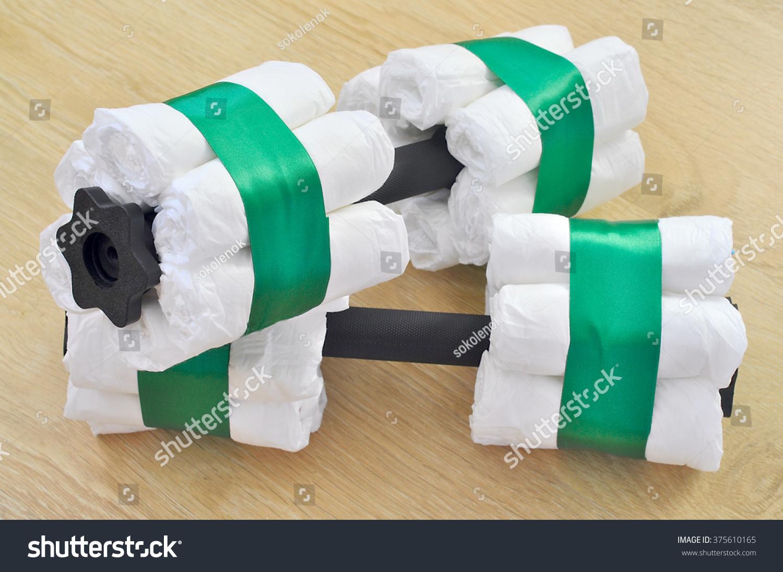 Barbell Diaper Cake Stock Photo 375610165 Shutterstock