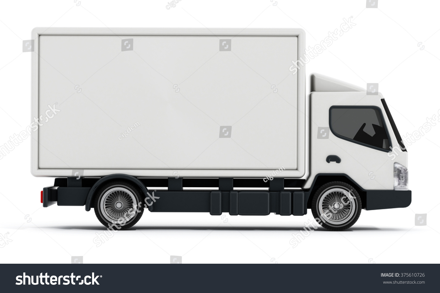 White Delivery Truck Transportation Van Isolated Stock ...