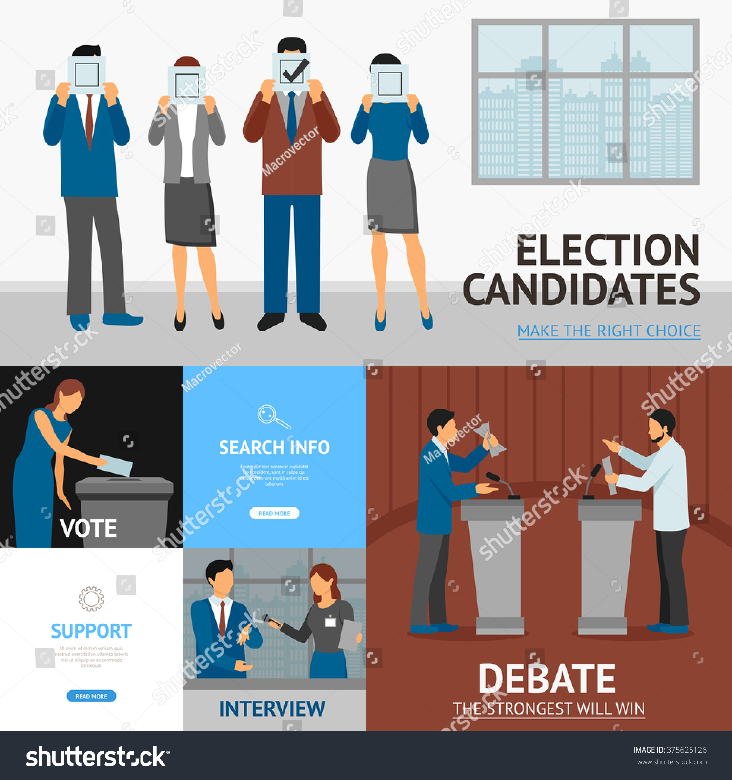 political election candidates promises debates and interview save to a lightbox