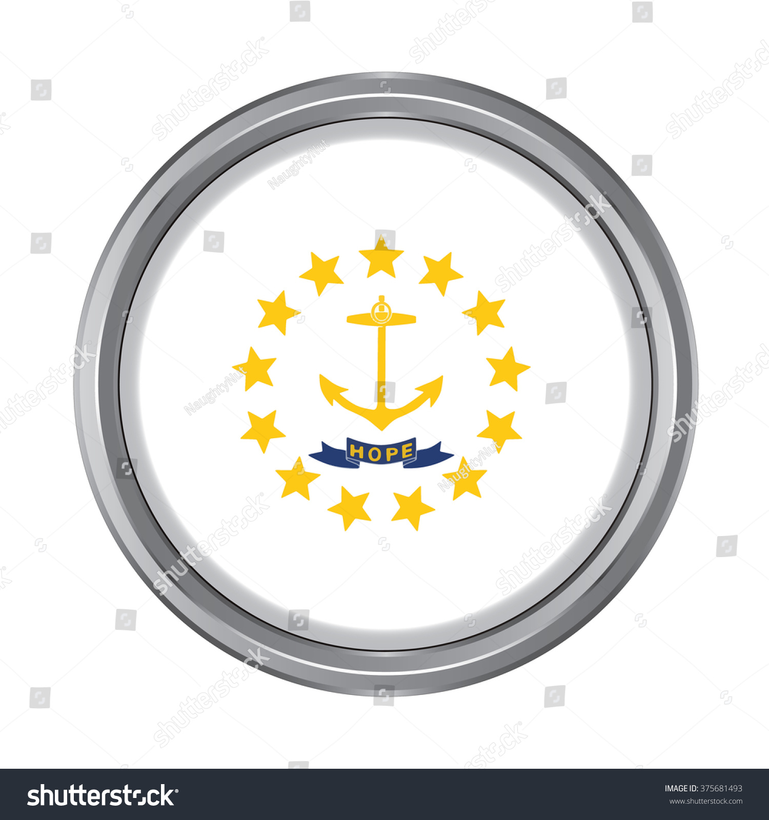 3d button flag rhode island state stock vector 375681493 3d button flag of rhode island state of the united states vector illustration biocorpaavc Choice Image