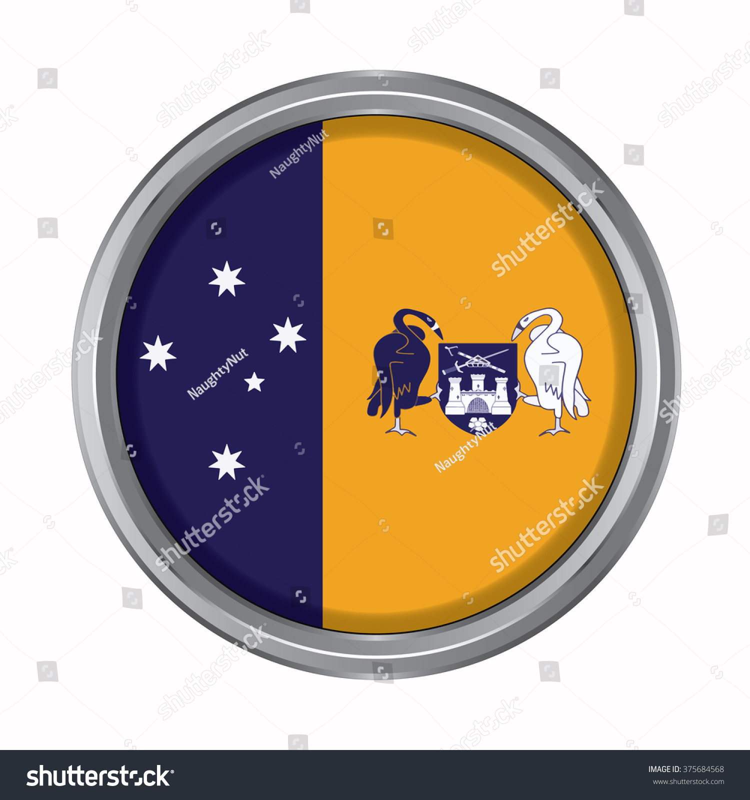 3d button flag australian capital territory stock vector 375684568 3d button flag of australian capital territory statesterritories of australia vector illustration biocorpaavc Choice Image